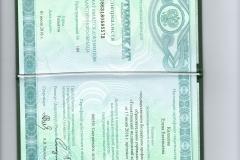 Колосова Сертификат Сестринское дело